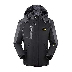 TBMPOY Men's Waterproof Winter Ski Jacket Outdoor Mountain Windproof Fleece Coat