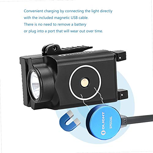 Bundle GrapheneFast Battery Case OLIGHT PL-Mini Valkyrie 400 Lumens Rechargeable Pistol Light with Cree LED and Magnetic USB Charger