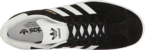Adidas Originals Women's Shoes | Gazelle Sneakers, Black/White/Metallic Gold, (7 M US)