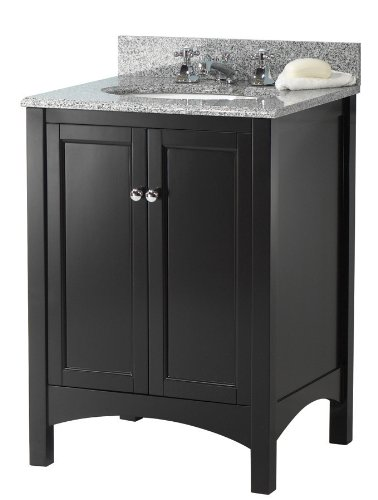 Pegasus TREA2422 Haven 24-Inch Vanity, Espresso - 30' Two Doors Vanity