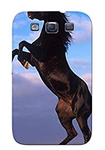 Throbbing Durable Animal Horse Back Case/ Cover For Galaxy S3 For Christmas
