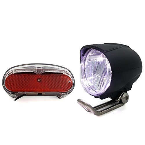 ZOOMPOWER 36v 48v compatitable e-bike headlight taillight set front light rear light set headlamp taillamp set 1w by ZOOMPOWER