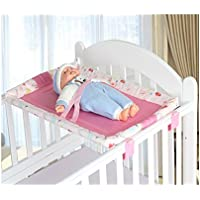 Miyaou Universal Baby Cot Top Changer 70x45 CM Portable Baby Changing Table 5 Colors (PlanALanger-Pink)