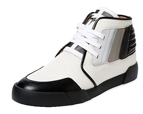 GIUSEPPE ZANOTTI Foxy Snap Calf Leather & Textile High-Top Sneaker (16 US; 49 EU) N07PVKc