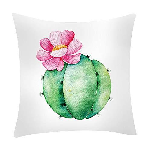 ❤Ywoow❤ Pillow, Cactus Banana Leaf Print Pillow Case Polyester Sofa Car Cushion Cover Home Decor