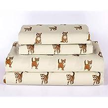 Cat Kitten Twin Size 3 Piece Sheet Set Microfiber Bedding, Orange Tabby Kitty Pet Animal Lover Gift