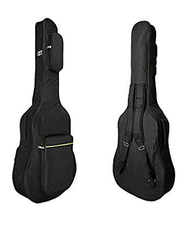 41 Inch Acoustic Classical Guitar Bags Carrying Case, Dual Adjustable Shoulder Strap Padded Guitar Gid Bag Waterproof 600D Oxford Cotton Guitar Backpack with Comfort Padded Side Handle, 3 (Acoustic Guitar Phitz)