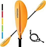 Overmont Kayak Paddle 90.5in/230cm Heavy Duty Aluminum Alloy Lightweight Boating Oar for Inflatable Kayaks wit
