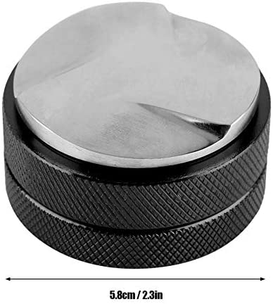 Sothat Espresso 58Mm Coffee Distributor Leveler Tool Macaron Coffee Tamper With Three Angled Slopes-Black