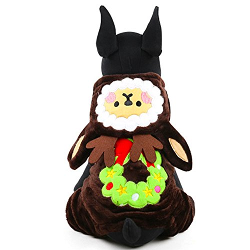 Laku Dog Christmas Suit Dog Costume Warm Pet Dog Costume Small Dog Hoodies