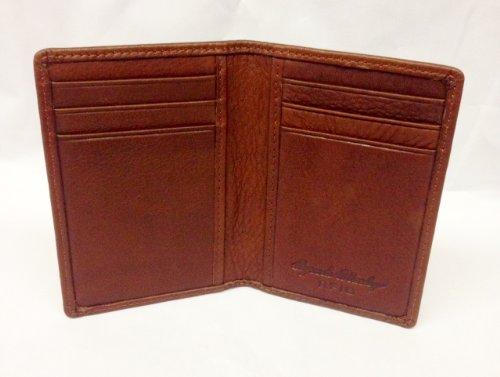 Osgoode Marley Cashmere Leather RFID Blocking 8 Pocket Card Case Wallet - Brandy (Leather Marley Pocket Osgoode)