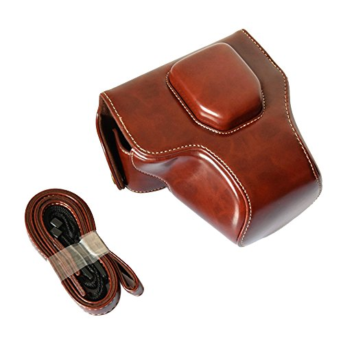 Andoer® Crazy-horse Leather Camera Case Bag with Shoulder S