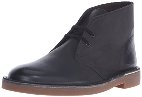 Clarks Men's Bushacre 2 Chukka Boot, Black Leather, 10 M US