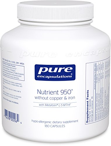 Pure Encapsulations - Nutrient 950 without Copper & Iron - Hypoallergenic Multi-vitamin/Mineral Formula for Optimal Health* - 180