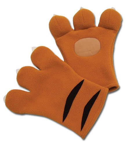 Code Geass Cosplay Nina's Tiger Plush Gloves (Tiger Hunter Costume)
