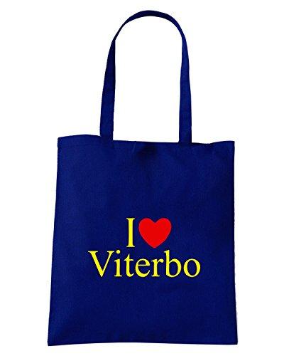 T-Shirtshock - Bolsa para la compra TLOVE0084 i love heart viterbo tshirt Azul Marino