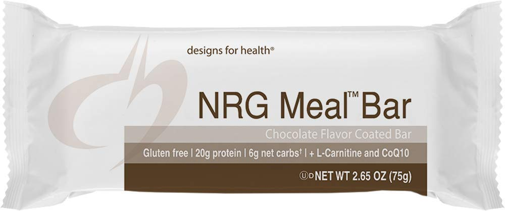 Designs For Health   NRG Meal Bar   Energy Support + High Protein + CoQ10,