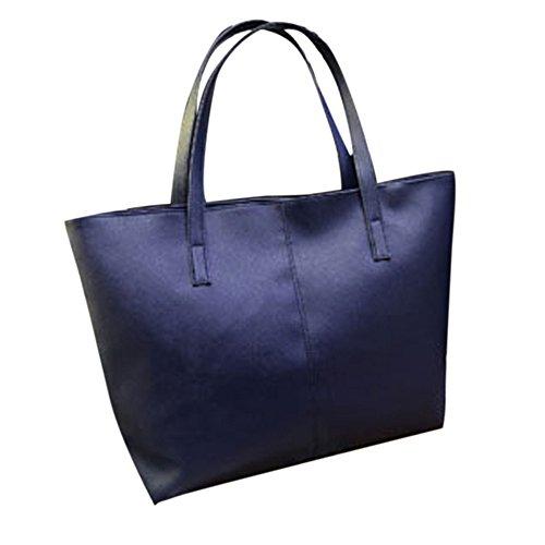 À Esailq Main Femme Messenger Bandoulière Sac Cuir En Mode Bleu vnErEfU