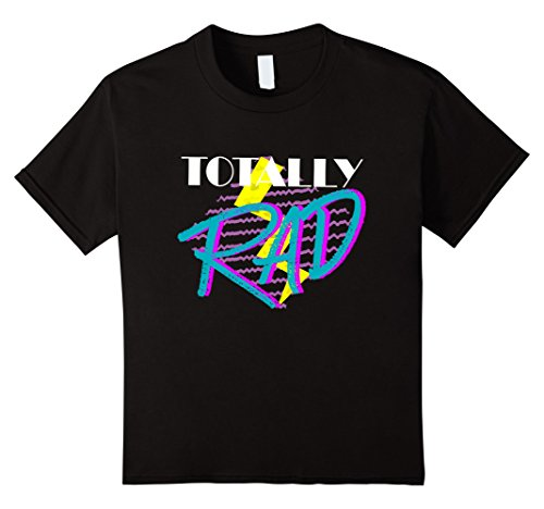 Kids Totally Rad 1980s vintage style costume party t-shirt 10 (80s Style For Girls)