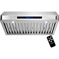 Golden Vantage 30 Under Cabinet Stainless Steel Range Hood Vent with Remote Control