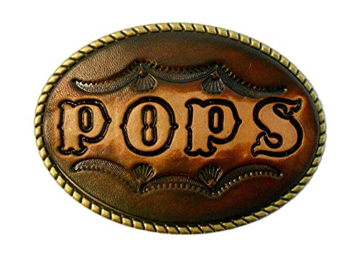 (Large Custom Tooled Leather Belt Buckle, MADE to ORDER, Names or Initials Up to 7 Letters)
