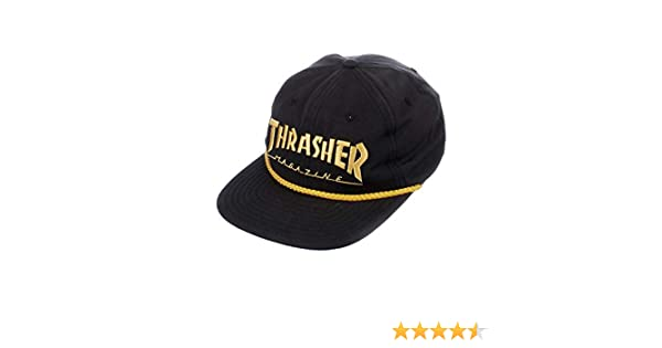 Thrasher Rope Snapback Hat - Black Yellow at Amazon Mens Clothing store: