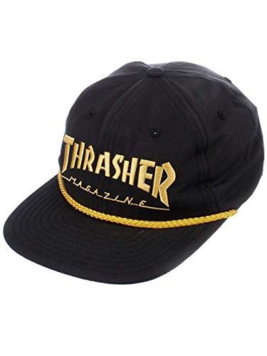 Thrasher Rope Snapback Hat Black Yellow