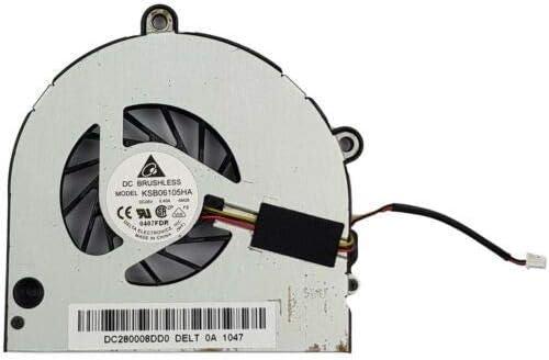 Laptronics - Pieza de Repuesto para Ventilador de refrigeración de CPU Toshiba Satellite C650 C655 C660 L650 K000124160 DC28000A0D0