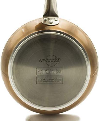 Wecook Professional 10530 Pfanne, 30 cm, Antihaftbeschichtung, Induktionsboden, frei von BPA und PFOA, geschmiedetes Aluminium