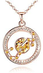 Pendant Made with Swarovski Crystal Horoscope