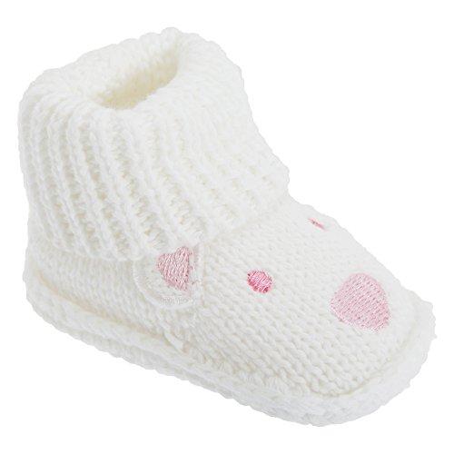 Patucos / primeros pasos fácil quita y pon Modelo Teddy Bear Bebes Unisex niños/niñas 100% algodón Crema/Azul