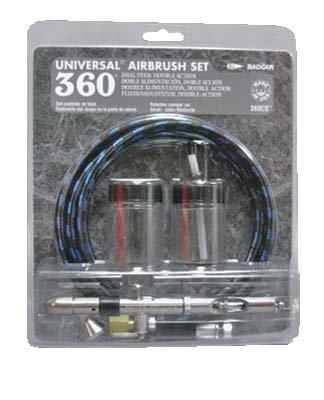 BADGER 360CS Universal Airbrush Set in Clam Shell BADR0360