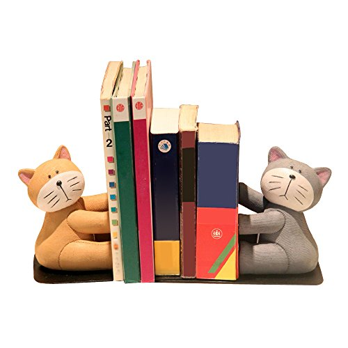 Eastyle Heavy Duty Cat Bookend Nonskid Bookends for Kids Students Tabletop Organizers by Eastyle