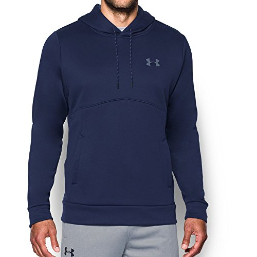 Under Armour Men's Storm Armour Fleece Hoodie,Midnight Navy/Graphite, Large
