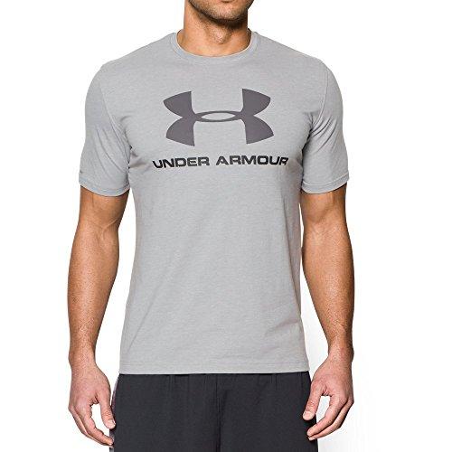 Under Armour Men's Sportstyle Logo T-Shirt, True Gray Heather (025)/Graphite, -