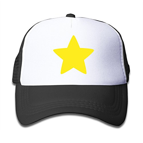 [Elnory Steven Cool Star Child Fashion Mesh Hat Black] (Lone Ranger Costume Shirt)