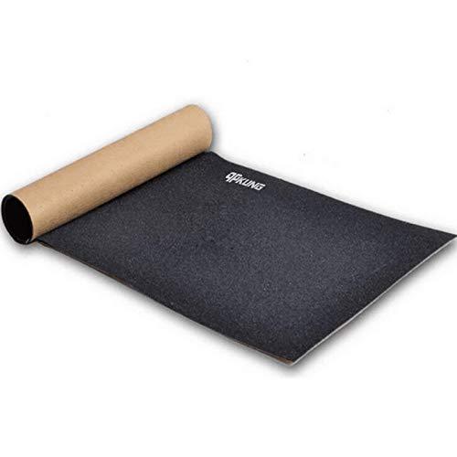 qpKUNG スケートボードグリップテープ 研磨砂紙 気泡なし 32インチx8.3インチ ブラック