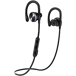 Bluetooth Headphones COULAX Wireless Earphones Over-Ear Sweatproof for Running with Mic (Bluetooth 4.1, aptX, CVC 6.0 Noise Cancelling, 7 Hours Play Time)