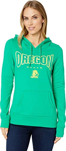 (Champion College Women's Oregon Ducks Eco University Fleece Hoodie Dark Green 2 Large )
