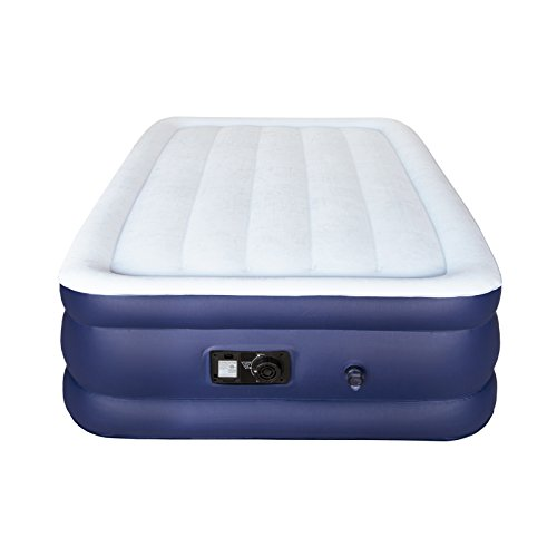 Sable Air Mattress, Twin Size Double High Inflatable Bed with Built-in Electric Pump and Storage Bag, Easy Setup Height 18 inches