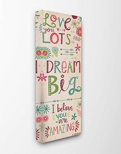 Stupell Industries Love You Lots Dream Believe Canvas Wall Art