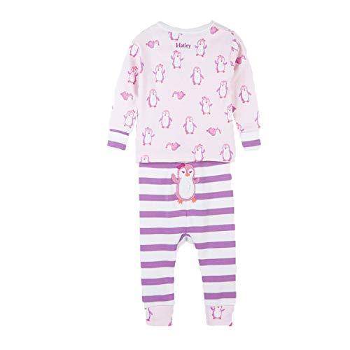 Hatley Baby Girls Organic Cotton Pajama Sets, Precious Penguin, 6-9 Months ()