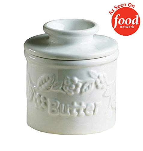 The Original Butter Bell Crock by L. Tremain, Specialty Crocks, Classic - White Raised Floral