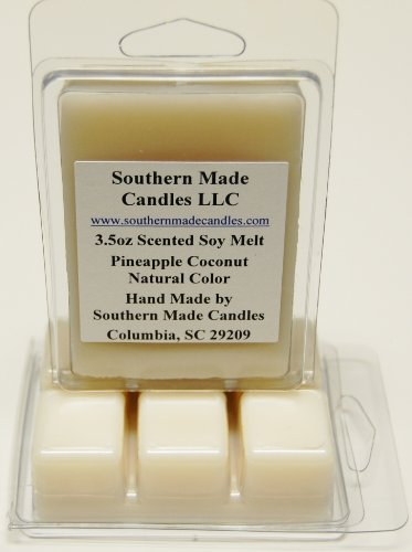 - 3.5 oz Scented Soy Wax Candle Melts Tarts - Pineapple Coconut