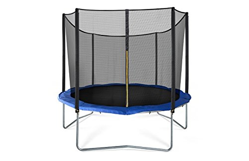 JumpSport SkyBounce Trampoline with Safety Enclosure — Includes Spring Pad (10′)