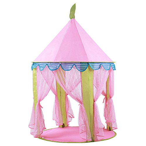 (Toys Tent Princess Lovely Portable Pink Teepee Castle Play Tent Tipi Kids Playhouse Lodge Balls Pool Cottages Best Girls Gift)