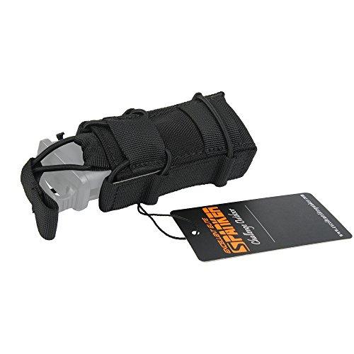 EXCELLENT ELITE SPANKER Tactical Flashlight Holder Open Top Single Magazine Adjustable Mag Pouch(Black)