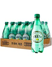 Lotte Trevi Sparkling Water Lemon Natural, Lemon,  500 ml,  (Pack of 20)