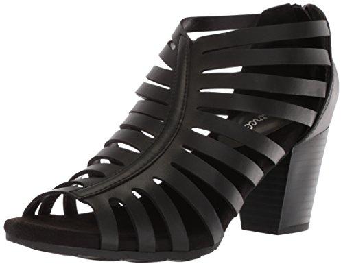 Sandalo Con Tacco Donna Facile Da Strada Con Tacco Nero