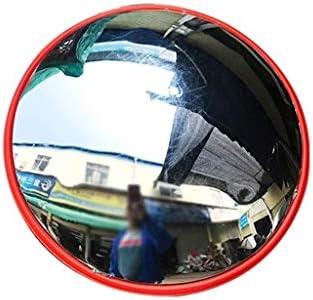 Geng カーブミラー 凸安全ミラー、屋外レッドPCミラー凸面鏡のために交通安全のシグナル